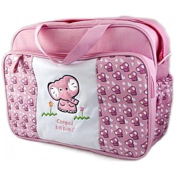 Сумка для мамы розовая со слоненком - 10/510