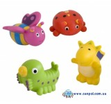 Детские игрушки в ванну Зверьки 4 шт. - 2/997