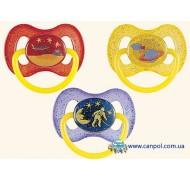 Латексная пустышка круглая 0-6 месяцев Космос - 23/221, Canpol Babies