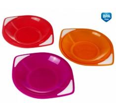 Пластиковые тарелки для девочки, 3 шт. - 31/401/2