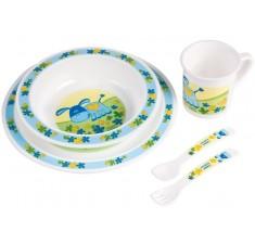 Набор детской посуды Smile, голубой - 4/401/2