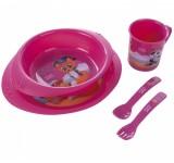 Детский набор пластиковой посуды Девочка и мальчик - 4/405