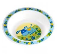 Пластиковая глубокая тарелка детская Smile - 4/412
