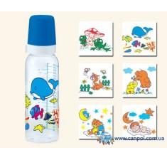 Бутылочка для кормления стеклянная с рисунком 240 мл - 42/201