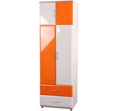 Шкаф для одежды с шухлядами и релингом Пионер МДФ B1