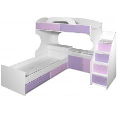 Двухъярусная кровать композиция Пионер вариант 4