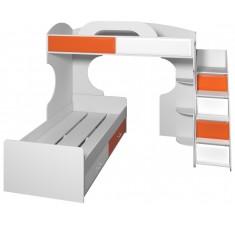 Кровать 2 х ярусная с полочками Пионер вариант 6