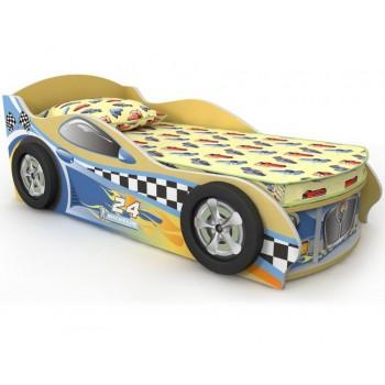 Детская кровать – машинка Briz желтая Driver 1