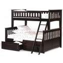 Двухъярусная трехместная кровать Жасминка с матрасами