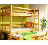 Трехъярусная кровать Трио с ящиками