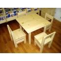 Комплект для детской комнаты (столик + 4 стульчика)