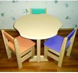 Комплект для детской комнаты (столик + 3 стульчика)