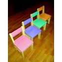 Комплект детских стульчиков цветных из сосны (4 шт)