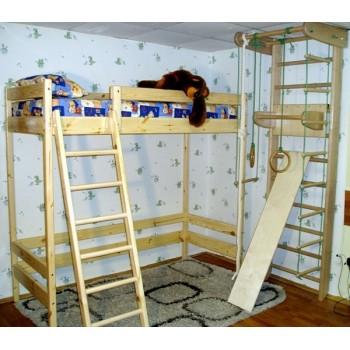 Двухъярусная кровать-чердак Айкис высота - 187см