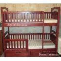 Двухъярусная кровать Карина Люкс с ящиками и матрасами
