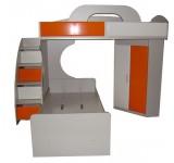 Двухъярусная кровать - композиция Пионер МДФ, вариант 1