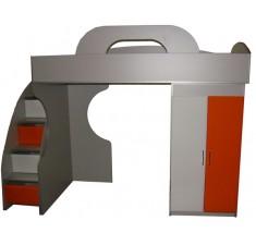 Детская кровать чердак Пионер МДФ, вариант 2