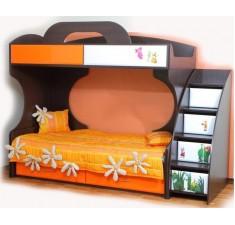 Двухъярусная кровать Пионер МДФ цвет венге