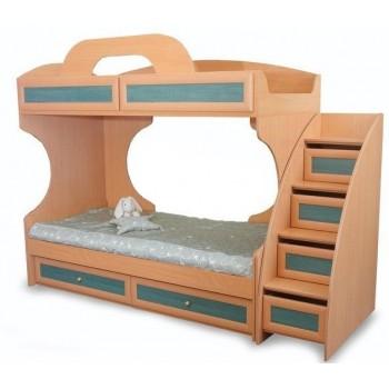 Двухъярусная кровать Злата c лестницей-горкой
