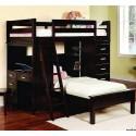 Детская двухярусная кровать Камилла с комодом и встроенным рабочим местом