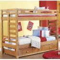 Двухярусная кровать Оскар с дополнительным спальным местом