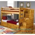 Детская кровать Саванна с лестницей-комодом и выдвижными ящиками