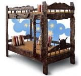 Детская двухярусная кровать Старый корабль