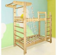 Двухъярусная кровать-спортуголок Пират