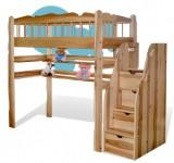 Кровать-чердак из ясеня Капитошка