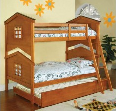 Кровать Теремок с дополнительным спальным местом