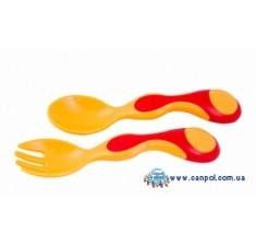 Детские двухцветные столовые приборы - 56/581