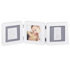 Рамка для детских фотографий Беби Арт Double Print Frame white & grey (34120052)
