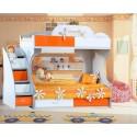 Двухярусная кровать Пионер МДФ с ящиками на роликах