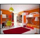 Детская комната Пионер МДФ модульная мебель, вариант 2