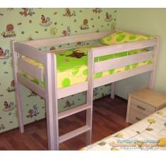 Кровать чердак детская, Экстра, бук